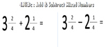 Video Tutorial: Common Core Math Standard 4.NF.3c (Add,Sub
