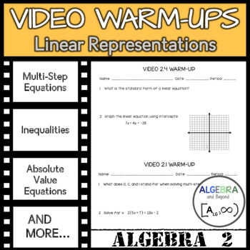 Video Warm-Ups: Linear Representations