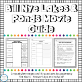 Video Worksheet Bill Nye Lakes and Ponds