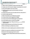Video Worksheet - Charlie Brown & The Birth of the Constitution