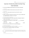 Video Worksheet - Coca-Cola