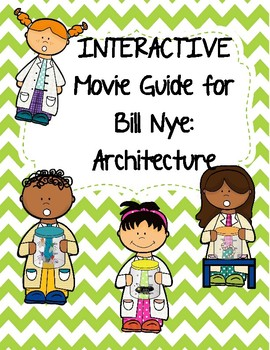 Video Worksheet (Movie Guide) for Bill Nye - Architecture QR code link