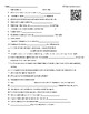 Video Worksheet  (Movie Guide) for Bill Nye - Communication QR code link