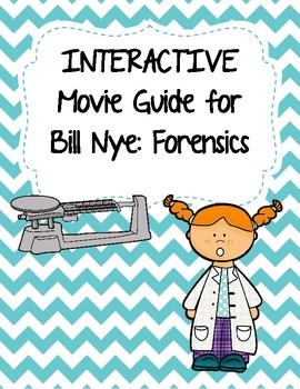 Video Worksheet (Movie Guide) for Bill Nye - Forensics QR code link