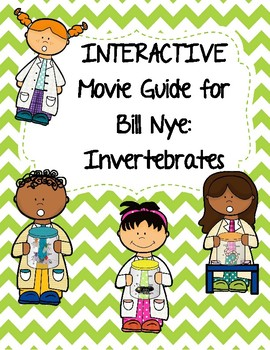 Video Worksheet (Movie Guide) for Bill Nye - Invertebrates QR code link