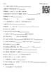 Video Worksheet (Movie Guide) for Bill Nye - Light Optics QR code link