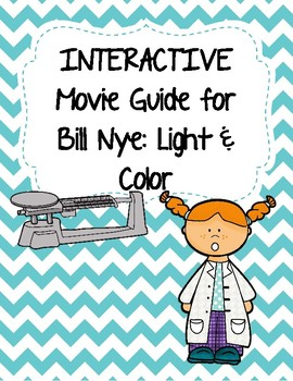 Video Worksheet (Movie Guide) for Bill Nye - Light and Color QR code link