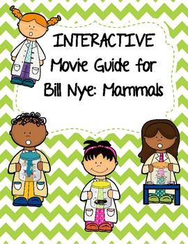 Video Worksheet (Movie Guide) for Bill Nye - Mammals QR code link