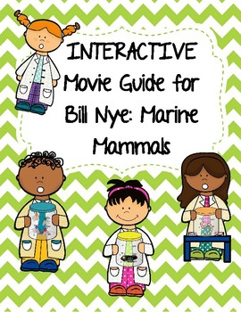 Video Worksheet (Movie Guide) for Bill Nye - Marine Mammals QR code link