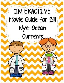 Video Worksheet (Movie Guide) for Bill Nye - Ocean Currents QR code link