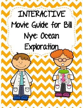 Video Worksheet (Movie Guide) for Bill Nye - Ocean Exploration QR code link