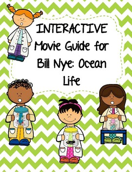 Video Worksheet (Movie Guide) for Bill Nye - Ocean Life QR code link