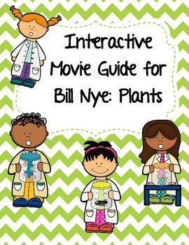 Video Worksheet (Movie Guide) for Bill Nye - Plants QR code link
