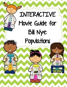 Video Worksheet (Movie Guide) for Bill Nye - Populations QR code link