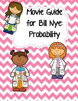 Video Worksheet (Movie Guide) for Bill Nye - Probability QR code link