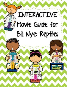 Video Worksheet (Movie Guide) for Bill Nye - Reptiles QR code link