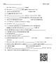 Video Worksheet (Movie Guide) for Bill Nye - Smell QR code link