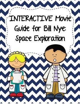 Video Worksheet (Movie Guide) for Bill Nye - Space Exploration QR code link