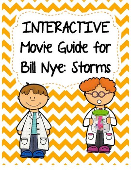 Video Worksheet (Movie Guide) for Bill Nye - Storms QR code link