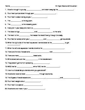 Video worksheet movie guide for bill nye blood and circulation urtaz Choice Image