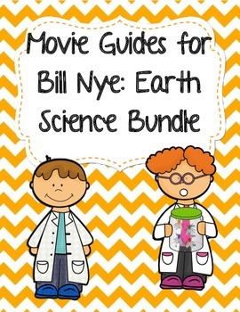 Video Worksheets (Movie Guides) for Bill Nye - Earth Science Bundle