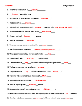 video worksheet movie guide for bill nye pressure by seriously science. Black Bedroom Furniture Sets. Home Design Ideas