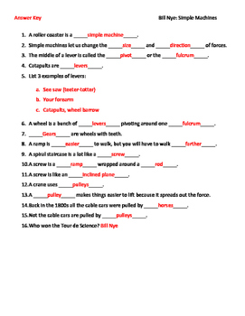 Simple Machine Worksheet – webmart.me