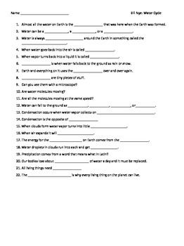 Bill The Science Guy Water Cycle Worksheet Answer Key Erosion furthermore Bill Nye the Science Guy Water Cycle Worksheets Unique Awesome moreover  together with bill nye nutrition answer sheet   Cedric VB additionally  also Video Worksheet  Movie Guide  for Bill Nye   The Water Cycle   TpT further  additionally Bill Nye The Science Guy Water Cycle Worksheets   Wallpaperzen org as well The Water Cycle Is A Fascinating Science Topic For Kids Its So Much furthermore bill nye nutrition answer sheet   Cedric VB as well  as well Science Video Worksheets Download By Bill Nye Heat Worksheet Answers furthermore Bill Nye Worksheets Elegant Bill Nye Water Cycle Video Guide Sheet further  besides Bill Nye Water Cycle Worksheet Lovely Bill Nye in Worksheet furthermore Water Cycle Bill Nye Worksheet   Free Printables Worksheet. on bill nye water cycle worksheet