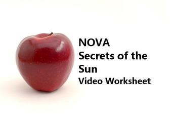 """Video Worksheet for PBS documentary """"NOVA Secrets of the Sun"""""""