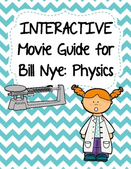 Video Worksheets (Movie Guide) for Bill Nye - Physics Bundle QR Code link
