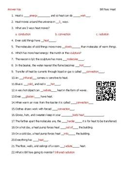 Video Worksheets (Movie Guides) for Bill Nye - Chemistry Bundle QR code