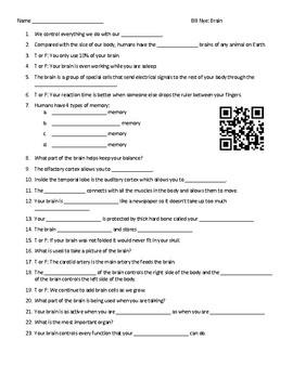 Video Worksheets (Movie Guides) for Bill Nye - Humans Bundle QR code link