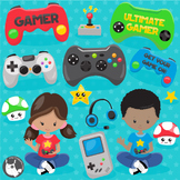 Video game clipart commercial use, vector graphics  - CL1108