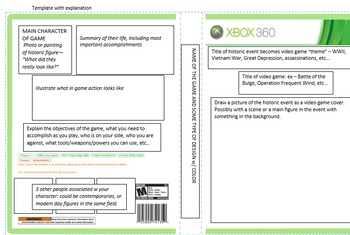 Video game cover history or english activity