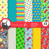 Video game papers, commercial use, scrapbook papers, patterns - PS889