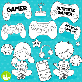 Video game stamps,  commercial use, vector graphics, images  - DS1106
