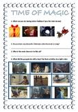 Video worksheet for winter advert