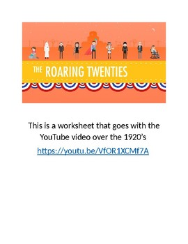 Video worksheet to 1920 crash course