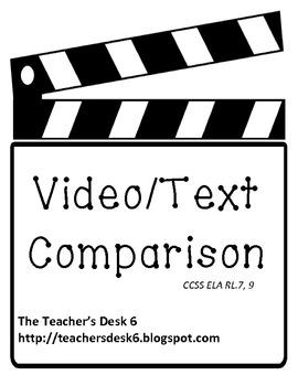 Video/Text Comparison Common Core Aligned