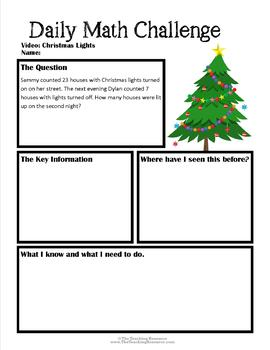 Videos: Intermediate Multi-Operation Christmas Word Problems Pack 1