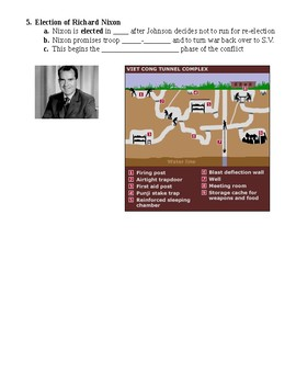 Vietnam Americanization Guided PowerPoint Lecture Notes