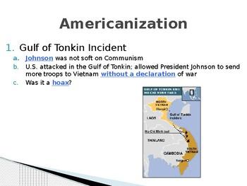 Vietnam Americanization PowerPoint Lecture