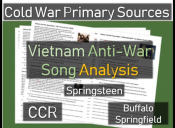 Vietnam Anti-War Song Analysis #1 (CCR, Springsteen, Buffalo Springfield) w Qs