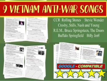 Vietnam Anti-war Song Analysis #1, #2, #3 (Doors, Stones,