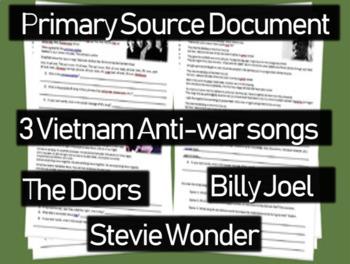 Vietnam Anti-war Song Analysis #2 (Doors, Billy Joel, Stev