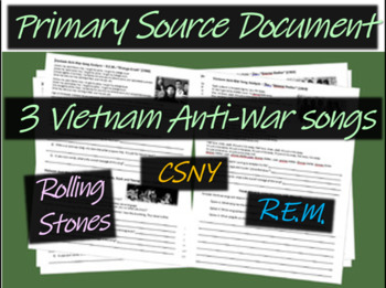 Vietnam Anti-war Song Analysis #3 (Rolling Stones, CSNY, REM) guiding Qs