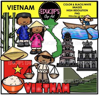 Vietnam Clip Art Bundle {Educlips Clipart}