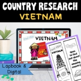 Vietnam Country Research Project, PBL:Interactive Lapbook and Notebook