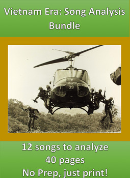 Vietnam Era Song Analysis ***12 songs