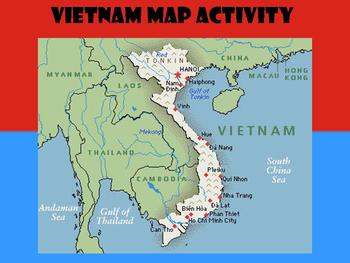 Vietnam Map Activity by The Social Studies Station | TpT